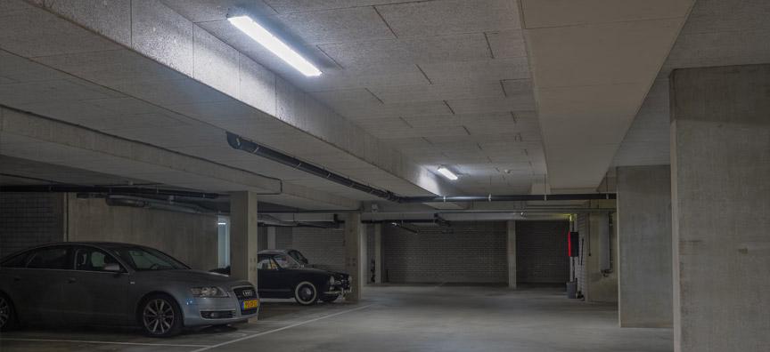LED verlichting parkeergarage