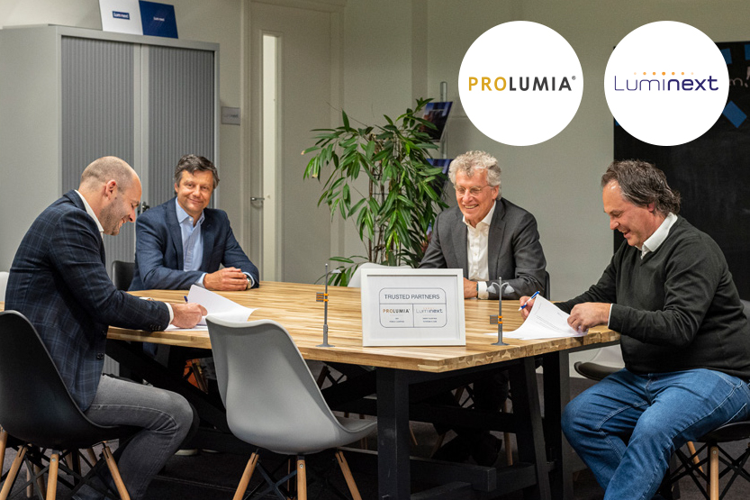 Prolumia en Luminext worden trusted partners