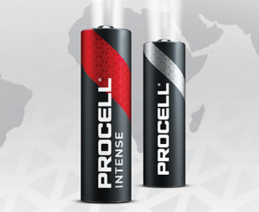 DURACELL INDUSTRIAL WORDT PROCELL PROFESSIONAL BATTERIES